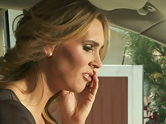 Milf Tanya Tate talking on the phone and fucking half dressed male
