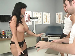 Dr Veronica is experimenting on her horny patients