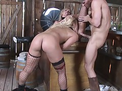 Two big tits sluts are fucked by a real cowboy