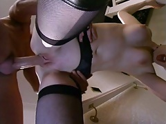 Standing fuck with UK student stockings whore Lara Latex and Donna Marie
