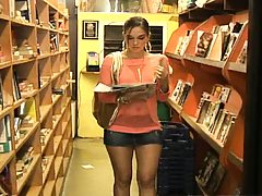 Hot latina in a tight little skirt in a grocery store