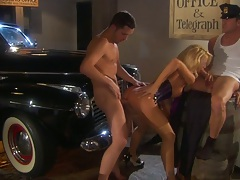jessica drake standing fuck with mobster gangsters