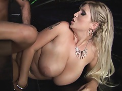 Babes sit onc ock and then get cummed in mouth