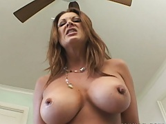 Big black dong stuffs this hot milf from behind