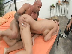 Wife spreads legs for another man and hubbie watches