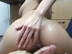 Sexy nice round ass gf doggy style pov home video shot
