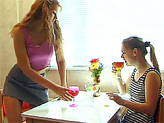 Two lesbian amateur girls toying eachother