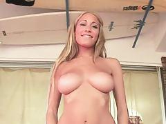 Laura Love strocking a big dick