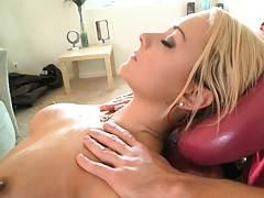 Hardcore fucking Briana on the massage table