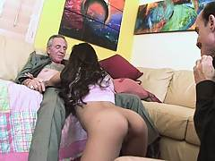 Young ass gets some geezer cock inside