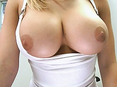 Big perfect tits pulled out of shirt and underwear off