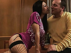 Wife and husband making out and more in dinning room