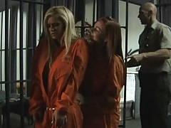 Hot chicks on death row get a shower surprise