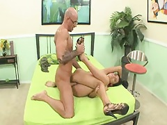 Latin whore gets cummed in and around her mouth