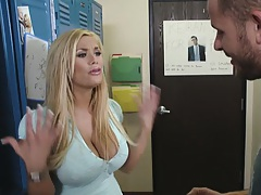 Big tits shyla stylez gets undressed in the locker room