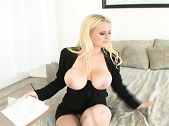 Big natural tits flashed in your face