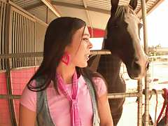 Sexy 18 year Erin Taylor and the horse ranch