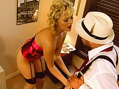 Blondie sucks private dicks cock
