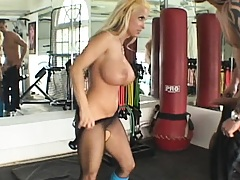 Ass aerobics with an anal penetration excerise
