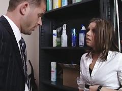 Slut fucks up at office and has to fuck Scott now