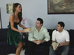 Hot brunette wife trying to kill her stupid husband