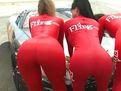 Nice ass with Alexis and Frenceska on car