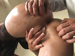 Rimming that sexy ass while she moans