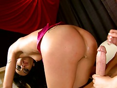 Slut sits on cock with asshole and then a2m