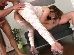 Ass exam from euro chick Tigerr Benson and a blowjob with anal