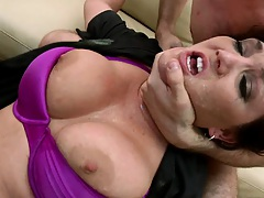 Big tits officer Clair Dames gets punished