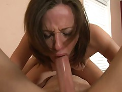Hot babe deepthroat attempt and cowgirl riding