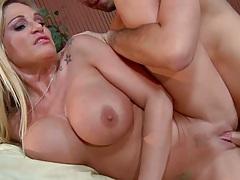 Sideways big tits dirty blonde milf penetration