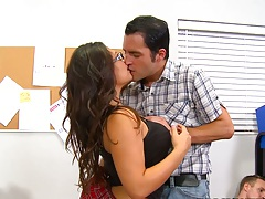 Making out with big tits Rikki Nyx in classroom getting naked