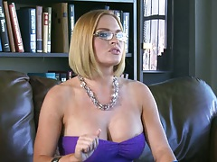 Big tits at work with Krissy Lynn