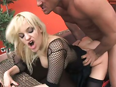 Blonde milf Britney rear entry doggy with anal pov cowgirl fuck