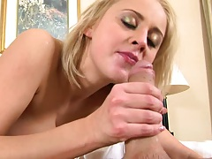 Titty fucking and sitting on penis in hotel