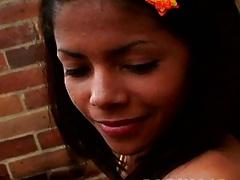 18 year old Carina18 undressing showing fresh latina petite tits