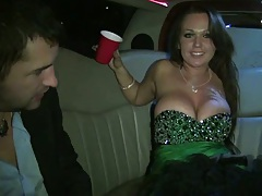 Limo fucking around getting drunk