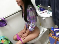 College sluts in the bathroom spreading pussy