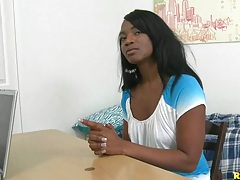 Big tits Trrina arrives at first time auditions