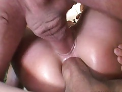 Great slut Lauren Phoenix double penetration with rough anal and ass to mouth