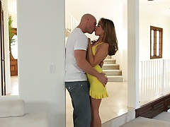 Making out with skinny cutie Ella Milano and a blowjob