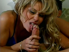 Blowjob with mature Zarina and nice view off her holes