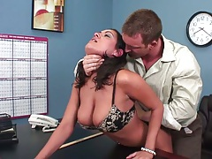 Big tits Charley Chase fucked on the desk