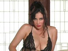 Lingerie big tits Jelena Jensen showing her glamcore pussy