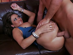 Claudia gets sideways anal fucked and ass to mouth