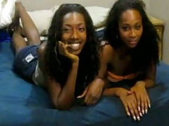 Black lesbian teens making out together