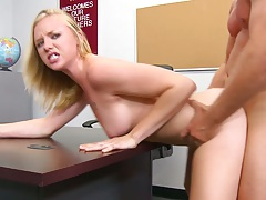 Older teacher fucking medium tits college student Tracey Sweet on his desk