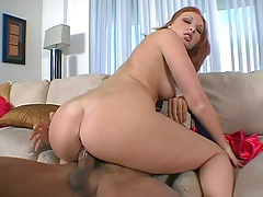Round ass medium tits Vixen sitting on cock cowgirl position