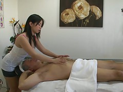 Hot asian massage parlor